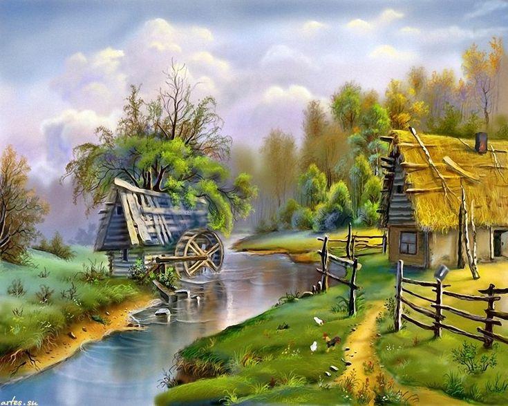 Красивые открытки деревня