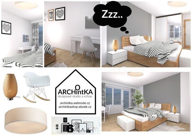 ložnice v panelákovém bytě :)