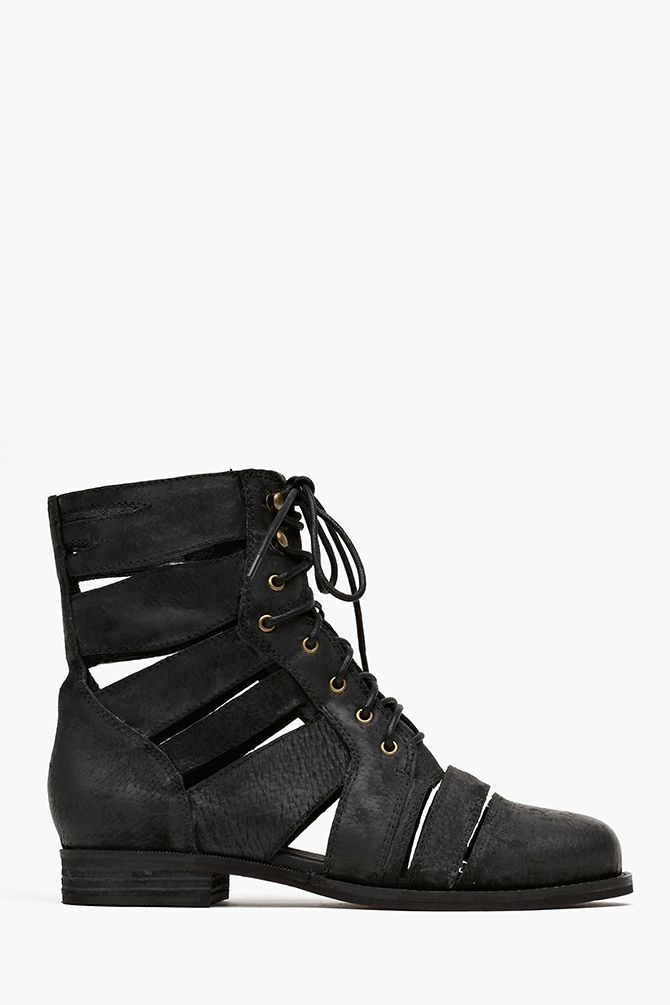 Slashed Combat Boot in Shop All at Nasty Gal