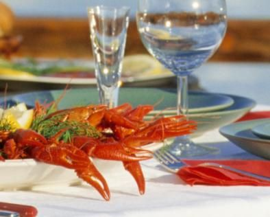 Crayfish parties in Finland are generally held between August and September