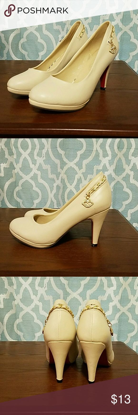 PRICE JUST REDUCED!!! BRAND NEW!!! Sassy cream shoes; run small-more like 8.5 than 9 Shoes Heels