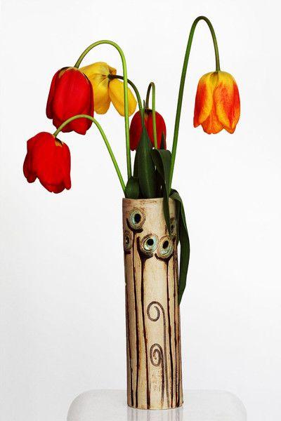 Vasen - Loch - Keramikvase, Unikat, Steinzeug... - ein Designerstück von zeit-geister bei DaWanda