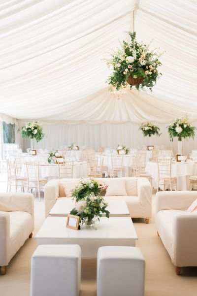 A classic white tented reception: http://www.stylemepretty.com/2015/01/16/pink-gold-cotswolds-garden-wedding/ | Photography: Taylor Barnes - http://www.taylorbarnesphotography.co.uk/