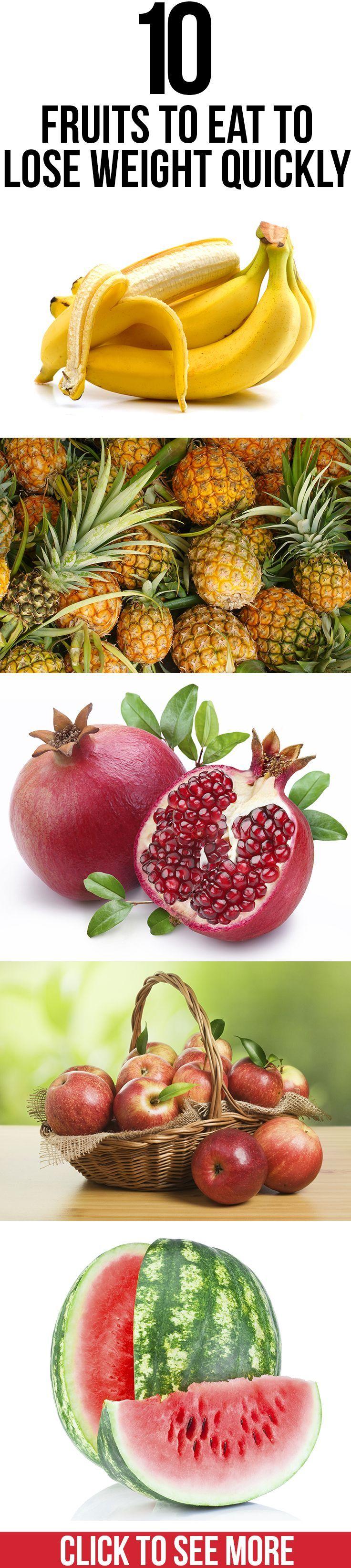 Las 10 mejores frutas para perder peso.