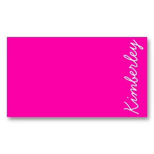 21 best hot pink business cards images on pinterest business cards colorful pink neon monogram trendy fashion colors business card template fbccfo Image collections