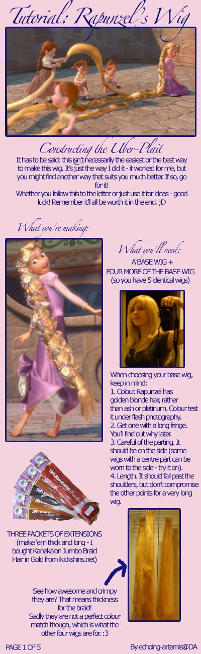 Rapunzel's Wig Tutorial 1 by *echoing-artemis on deviantART