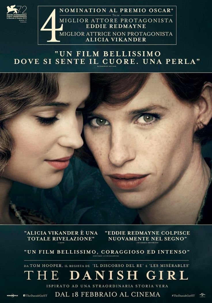 The Danish Girl, il film di Tom Hooper, con Eddie Redmayne e Alicia Vikander, dal 18 febbraio al cinema.
