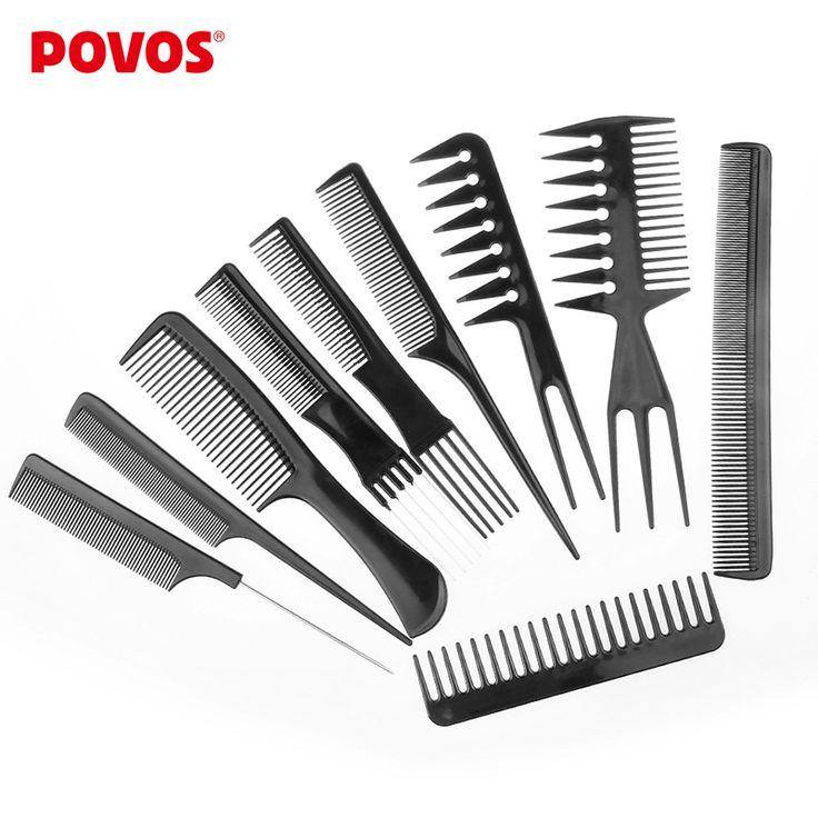 Professional Salon 10 Piece Comb Set