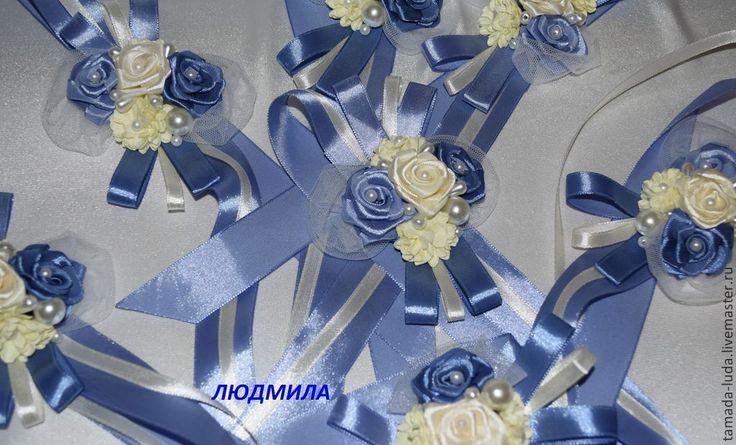Купить Браслеты для подружек невесты № 3 - синий, браслеты ручной работы, браслеты, свадьба
