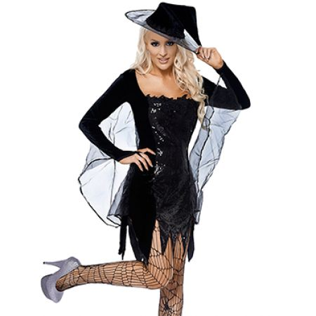 Hekse kostume Black Magic