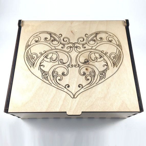 Large Heart Essential Oil Box Aromatherapy by FineArtReflections