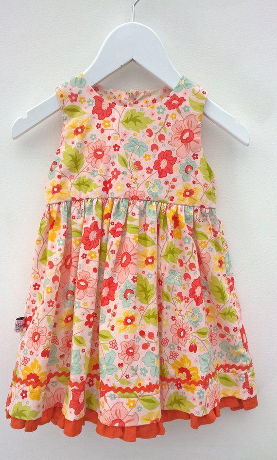 Ete Robe de Bebe Fille v/êtement Mode ABsoar Enfant Filles Manches Courte Fleur Floral Maxi Robe Imprim/ée Etoile de Poche Robe pour 4-12 Ans