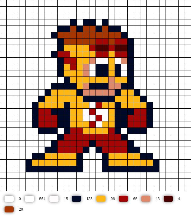 Kid Flash Young Justice Perler Bead Pattern