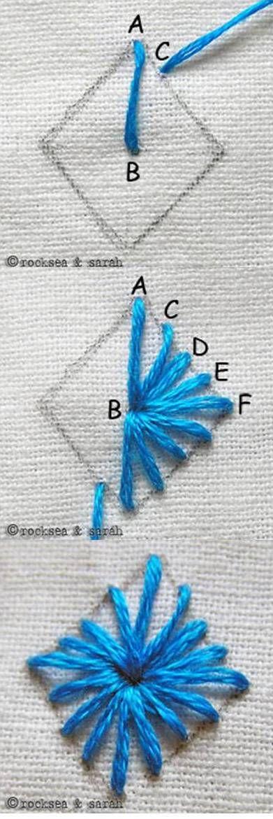 diamond eyelet stitch