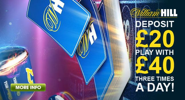 Deposit Match bonus: Deposit £20 Play with £40!You can receive the bonus three times, every day of the promotion period!