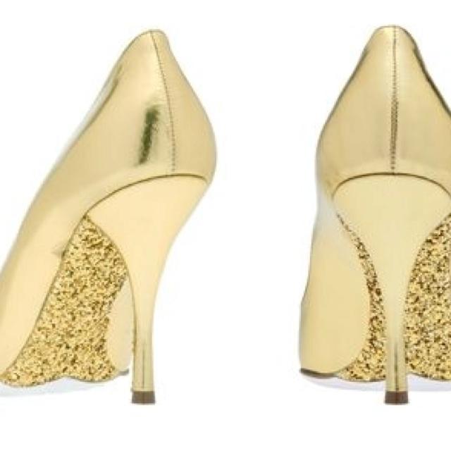 The shoes from Miu Miu Glitter Lame