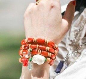 Cloudy amber bracelet/necklace