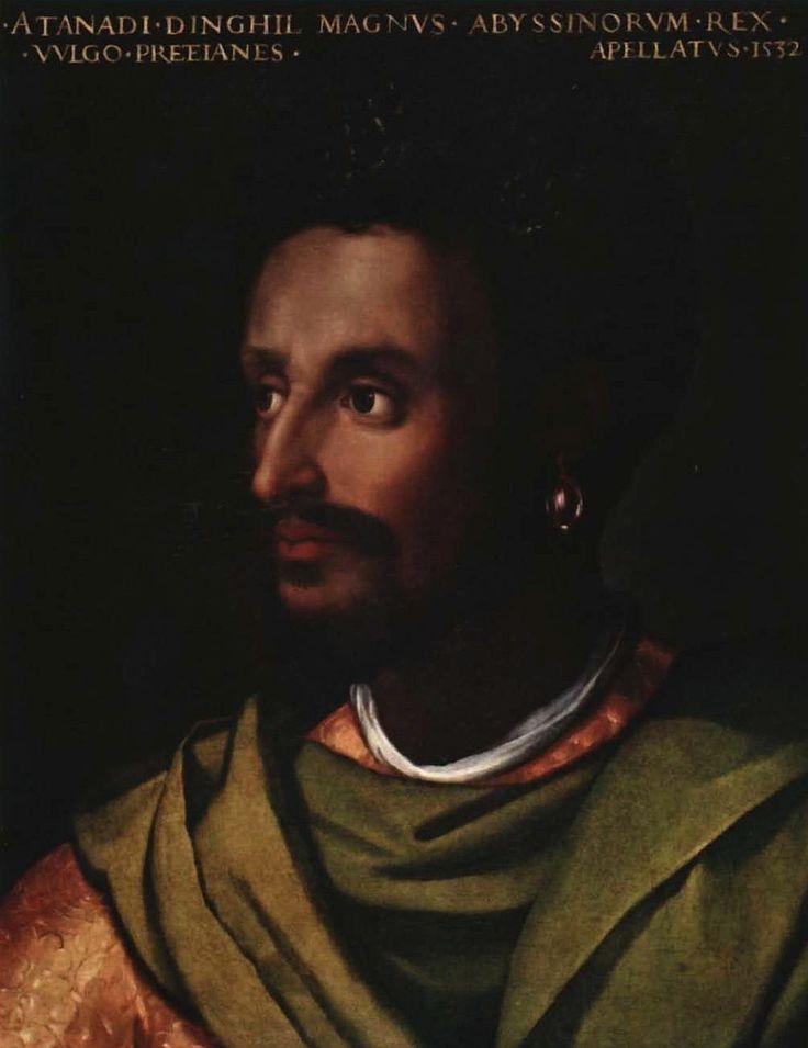 Cristofano dell'Altissimo Portrait of Lebna Dengel/Emperor Dawit II of Ethiopia  Italy (c. 1550s)