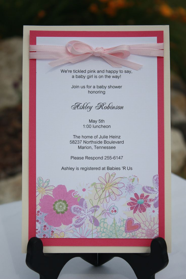 17 best handmade baby shower invitations uk images on Pinterest ...
