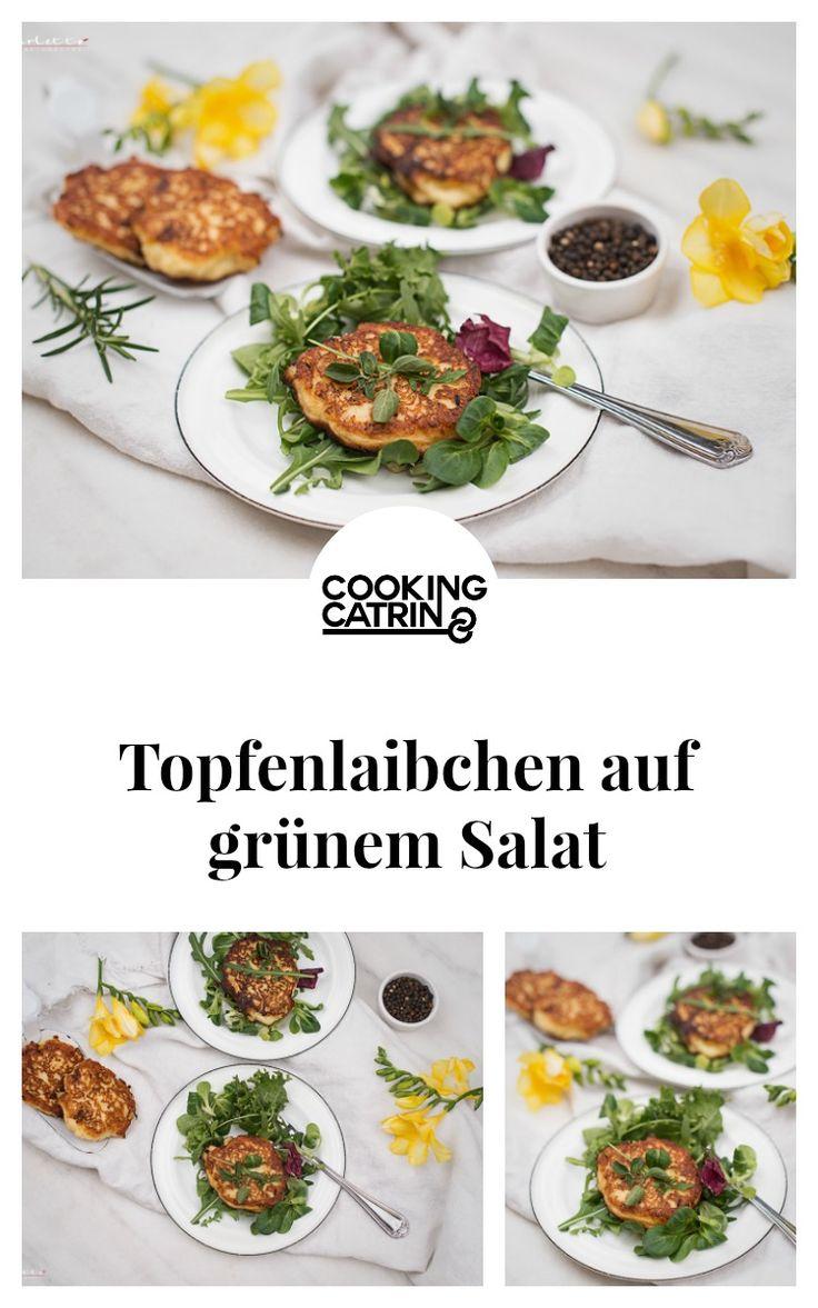 topfenlaibchen, topfen, curd, laibchen, dumplings, loaf, veggi, vegetarisch, salat, salad, green salad, grüner salat,