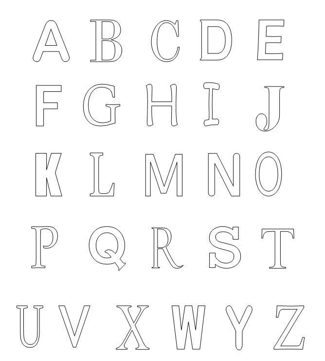 Novo alfabeto completo para colorir letras pintar desenhos - Plantillas para pintar ...