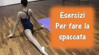 esercizi per spaccata frontale - YouTube