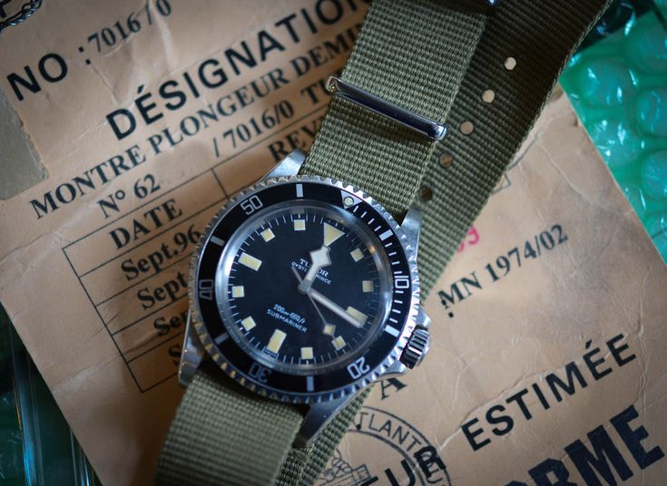 In the 1960s and 1970s Tudor Submariners were on the wrists of the some of the most elite naval forces in the world. This one was decommissioned by the French Marine Nationale in 1999.