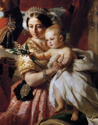 The real Queen Victoria wore the George III tiara for the famous Winterhalter portrait