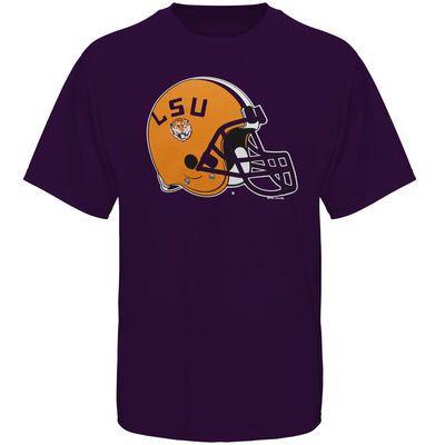 LSU Tigers Helmet LSU Football T-Shirt - Purple