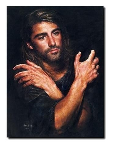 """I Am"" by 17-year-old Akiane Kramarik captures a moment in time when a 20-something Jesus is absorbing all that lies ahead of Him in the next decade or so.  It represents Jesus before His baptism by John and prior to beginning His ministry."