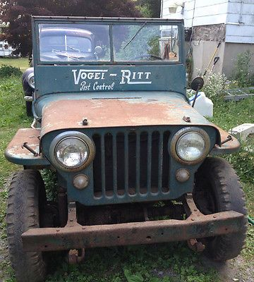 Jeep Original 1948 Willys Fresh Barn Find With Only 77000 Miles Great Project