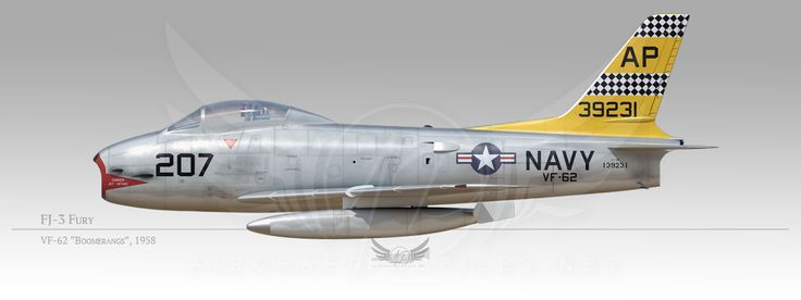 "FJ-3 Fury, VF-62 ""Boomerangs"", 1958"