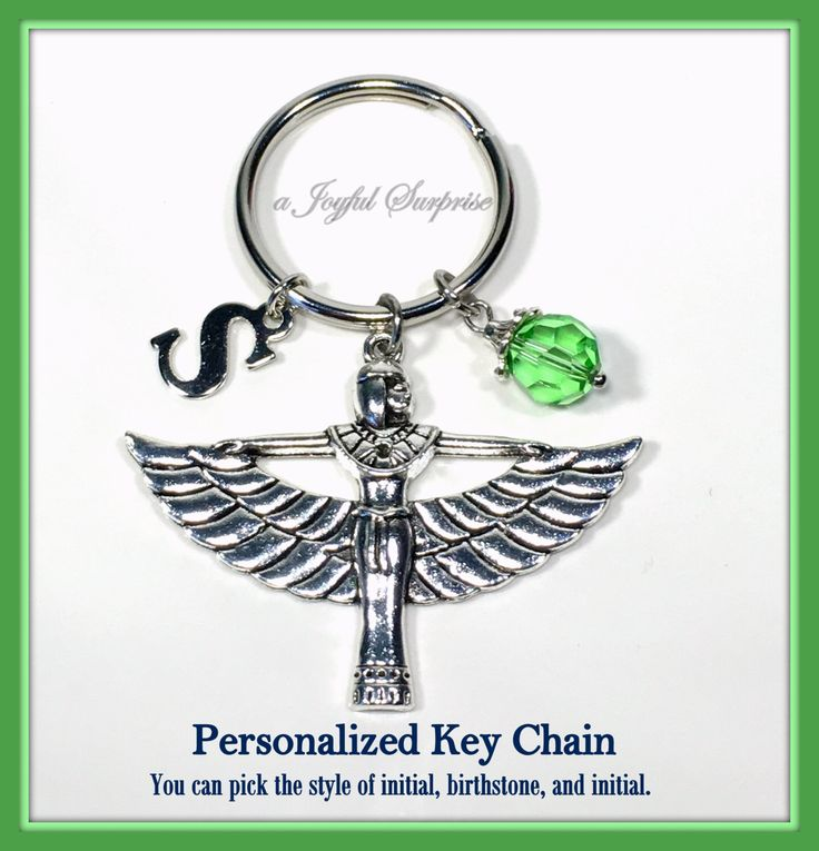 Cleopatra Keychain, Egyptian Goddess Keyring, Art Deco Key Chain, Cleopatra Jewelry Monogram Personalized Initial and Birthstone  A personal favorite from my Etsy shop https://www.etsy.com/ca/listing/264823087/cleopatra-keychain-egyptian-goddess