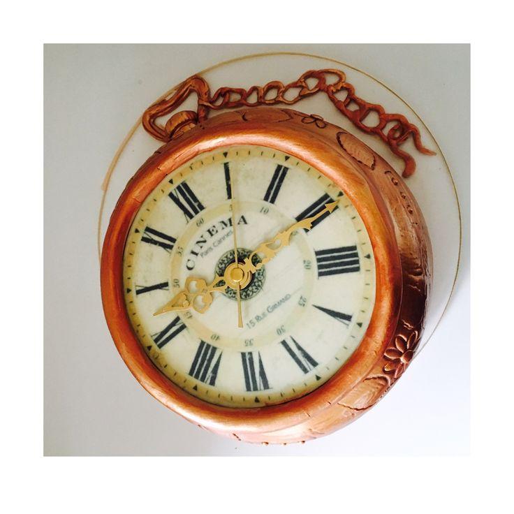 Pocket watch cake