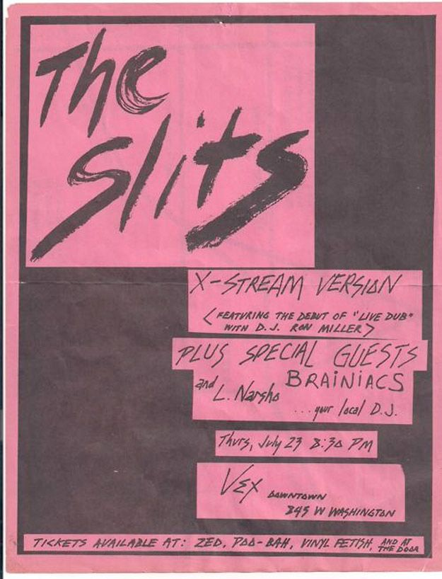 The Slits - Amazing Punk Flyers From The 80s