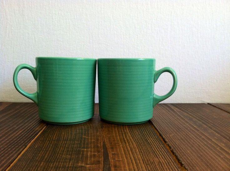 Vintage Mint Green Mugs by SweetwoodFarmStore on Etsy https://www.etsy.com/listing/238492662/vintage-mint-green-mugs