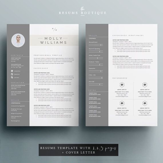 CV Template + Cover Letter For MS