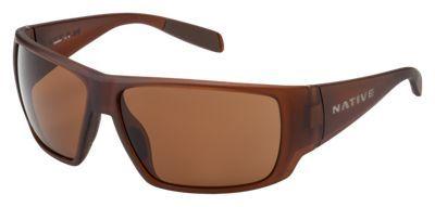 Native Eyewear Sightcaster Polarized Sunglasses - Matte Brown Cystal/Brown