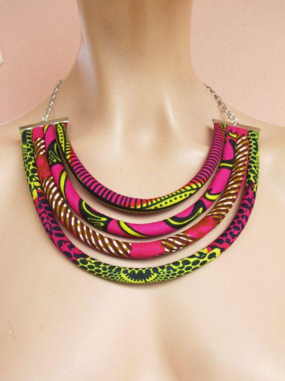 Afrikaanse stijl slabbetje ketting / Afrikaanse fashion /