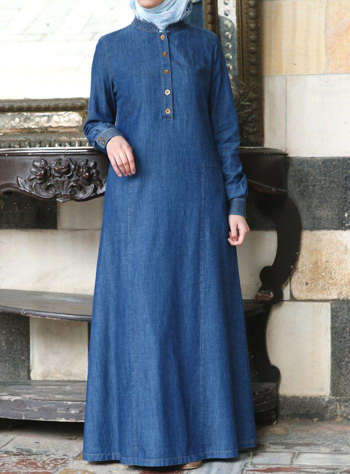 SHUKR USA   Soft Denim Dress