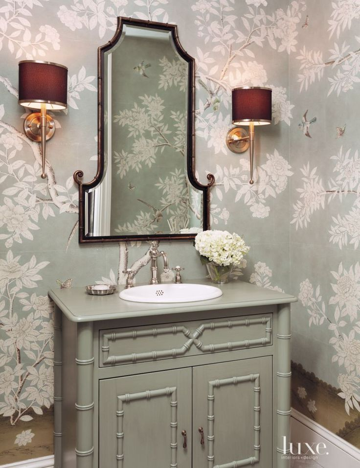 Create Photo Gallery For Website LOVE wallpaper for a powder bath Hampton Garden Gracie Wallpaper by Jenny Wolf Interiors published in the Spring edition of New York us Luxe magazine