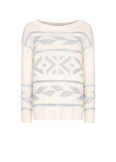 MANGO - Tribal metallic sweater