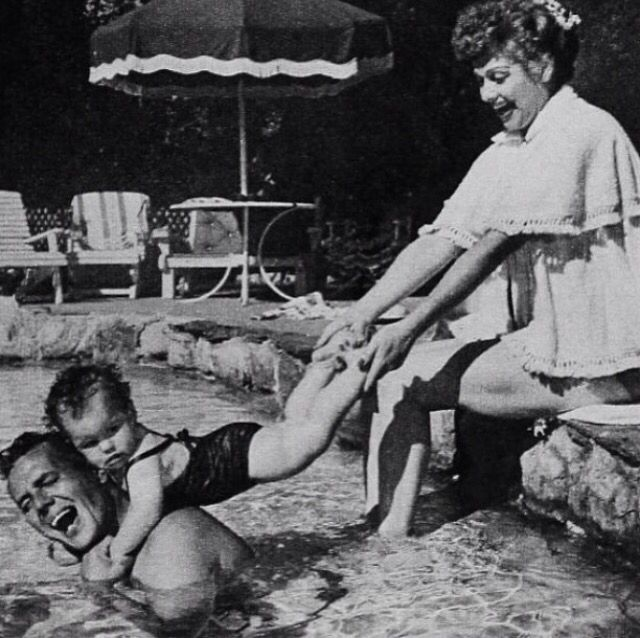 Desi Arnaz & Lucille Ball with their daughter Lucie