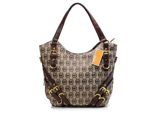 Michael Kors Brown Belt Decorate Designer Bag