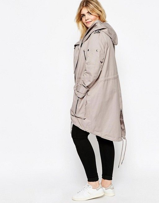 ASOS Curve | ASOS CURVE Parka with Waterfall and Storm Flap