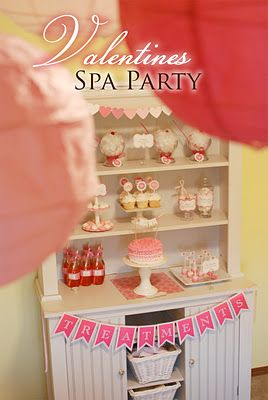 Valentine spa party with printables