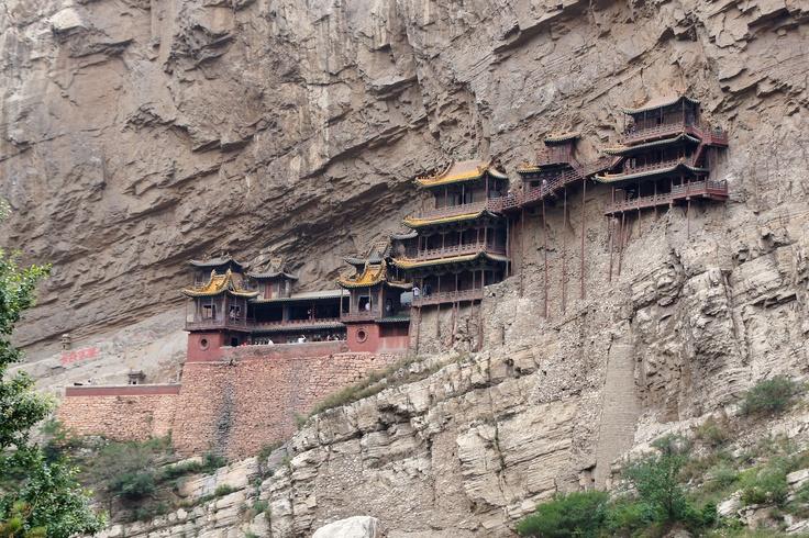 Klooster van Hengshan of het hangende klooster in de buurt van Taiyuan, China