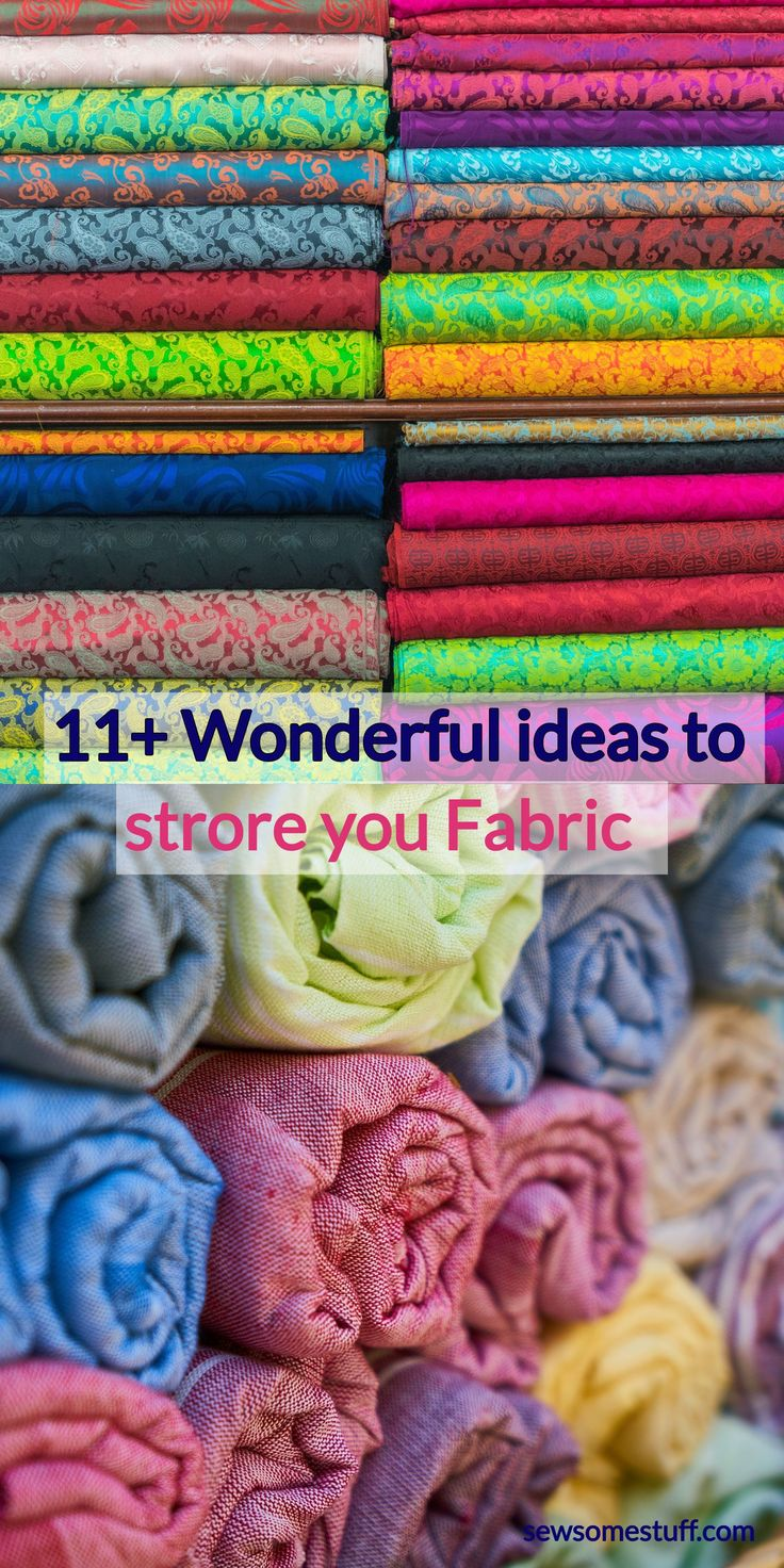 Check out these super awesome fabric storage ideas, Fabric Storage Ideas for Sew…