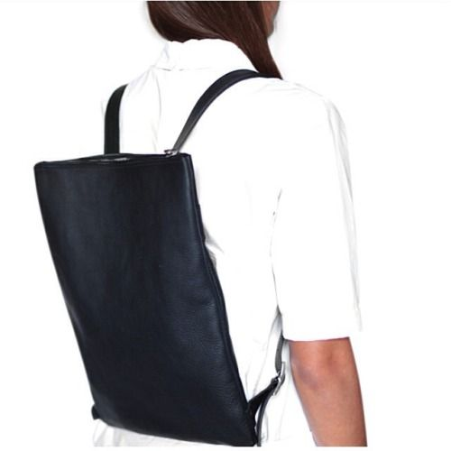 Altea Backpack  #backpack #altea #black #white #blackandwhite #leather #handmade #crafted #basic #essential #madeinitaly