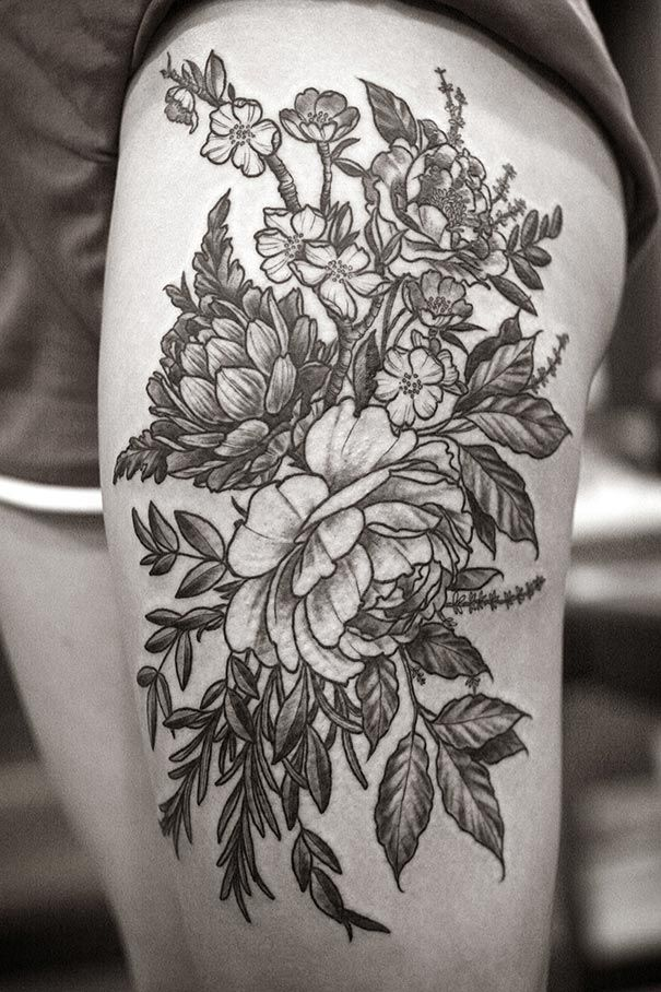 Running wild with flowers in your hair might be a fun activity, but it's hard to do it all year long. Alice Carrier, a tattoo artist, lets you bring your botanical beauties wherever you go.